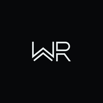 WR or RW logo and icon designs with different colors and backgrounds