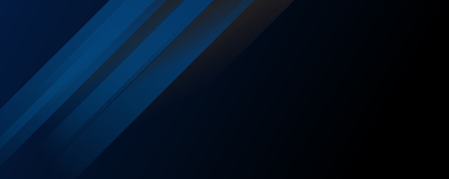 Template corporate 3D concept blue and black contrast background