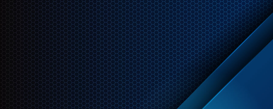 Abstract blue light 3D arrow direction on dark grey blank space design modern futuristic technology background vector illustration.