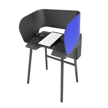 A United States of America Blue and Black Ballot Marker for Voting in the November 2020 presidential elections on Isolated White Background 3D Illustration