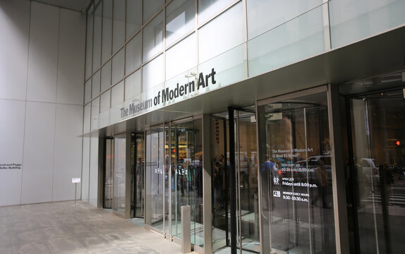 NEW YORK OCT 13:the modern art museum (MOMA) in New York on 13 October 2016.  MoMa.it is an art museum located in Midtown Manhattan in New York City, one of famous museum in nyc