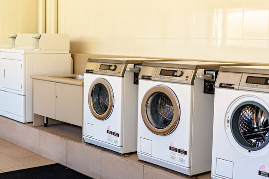 Brisbane, Queensland, Australia - March 2020:  Guest Laundry At Holiday Park