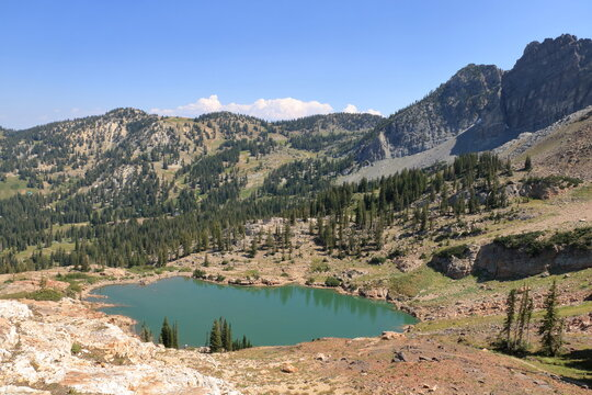 Cecret Lake in the Wasatch Mountains, Alta, Utah