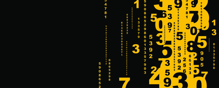 Creative and modern background with numbers.