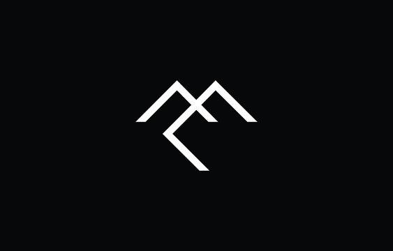 EM ME logo design concept with background. Initial based creative minimal monogram icon letter. Modern luxury alphabet vector design