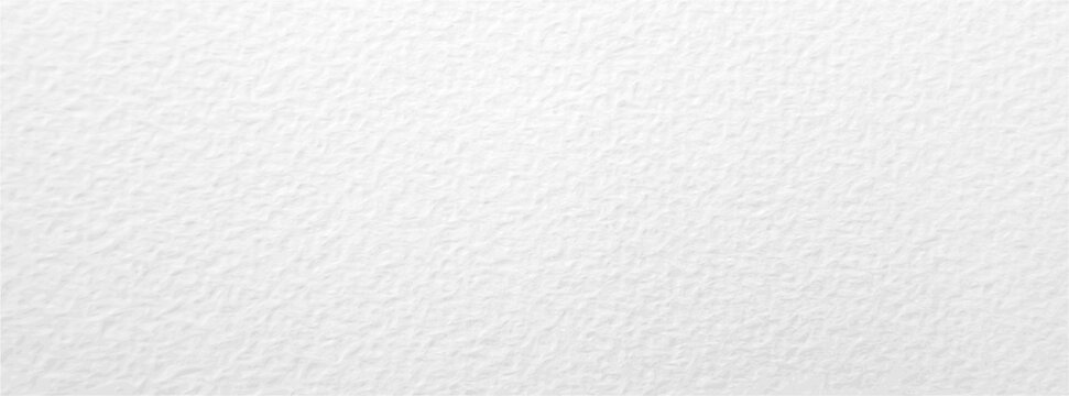 White paper texture long banner. Abstract minimal white textured background for artwork