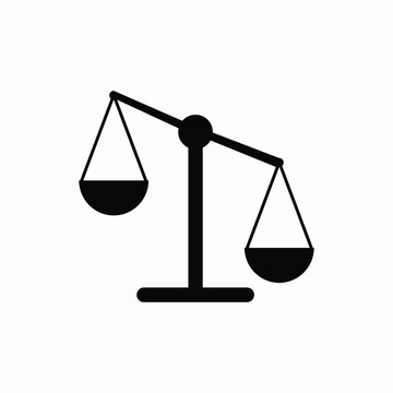 scale balance  justice icon vector
