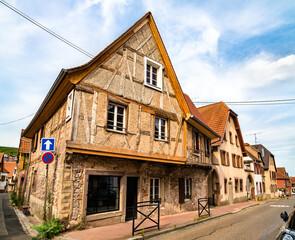 Traditional houses in Obernai - Bas-Rhin, France