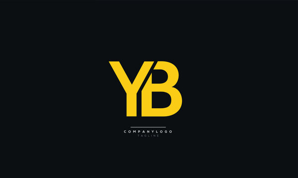 YB Letter Business Logo Design Alphabet Icon Vector Symbol