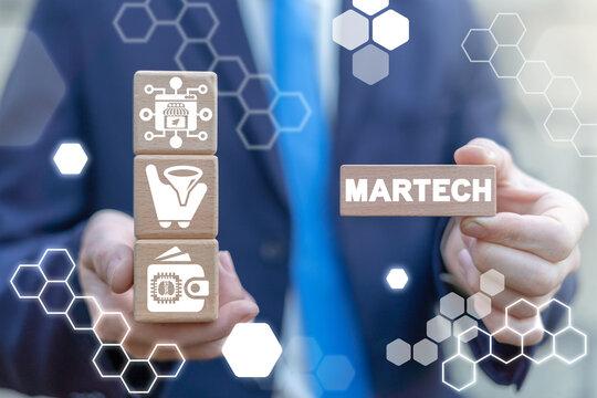 Marketing Digital Internet Technology Martech Concept.