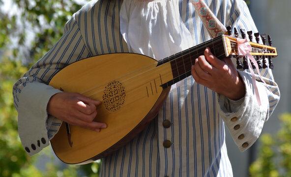 Musicien jouant du luth
