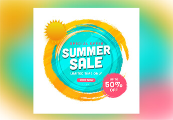 Summer Sale Banner Layout