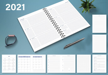 2021 Weekly Monthly Planner Layout