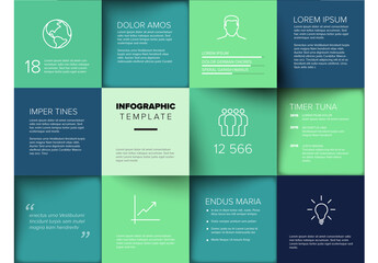 Multipurpose Mosaic Infographic Layout