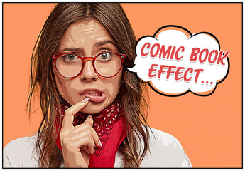Comic Book Photo Effect Mockup