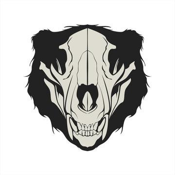Bear skull head vector illustration