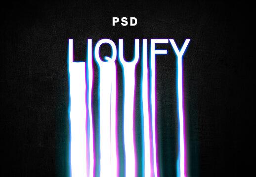 Liquid Text Effect Mockup
