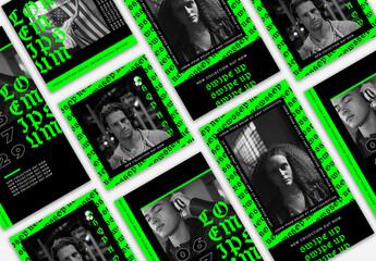 Modern Gothic Social Media Set