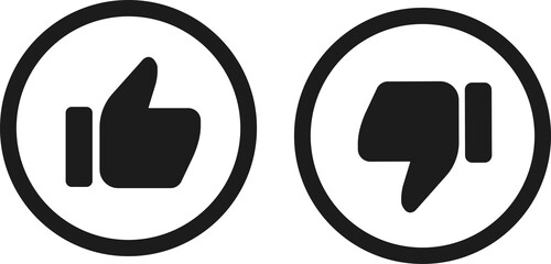 Like and dislike icons collection vector