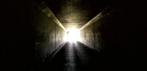Fototapeta light in the tunnel