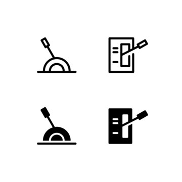 Lever Icon Logo Vector Symbol.