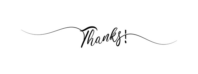 thank you letter calligraphy banner
