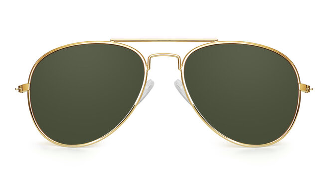 aviator sunglasses isolated with clipping path