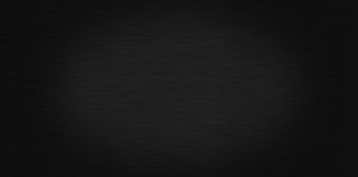 Polished black metal background. Striped abstract texture