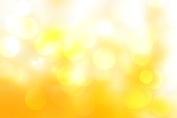 Wall Mural - Abstract yellow background. Warm color tone background. With circle shape look like bokeh. Yellow in golden tone. Like use to cerebrate seasonal.