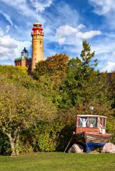 Schinkelturm tower and new lighthouse at Cape Arkona in Putgarten on the island of Rügen