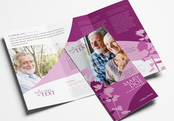 Church Trifold Brochure for Funeral Service