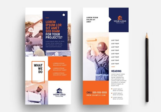Dl Rack Card Flyer for Handyman Construction Services