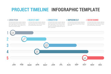Photo Blinds Height scale Timeline Infographics