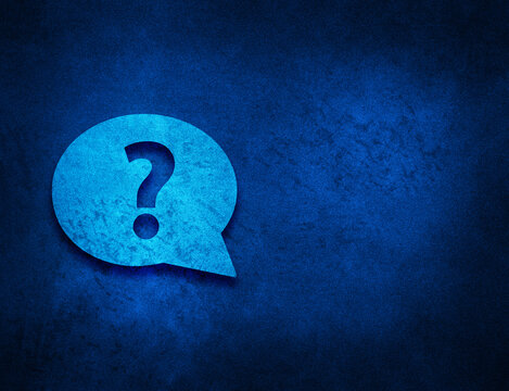 Question mark bubble icon artistic abstract blue grunge texture background