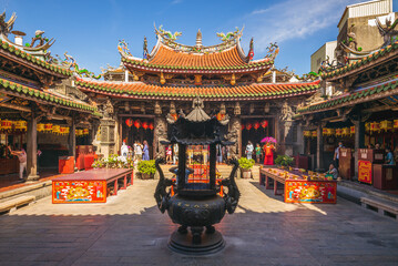 July 24, 2020: Lugang Mazu Temple located in lugang township, changhua, taiwan, is a Chinese temple dedicated to the Chinese sea goddess Mazu built in 1590 and repaired in 1815