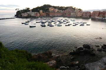 View of Baia del Silenzio. Sestri Levante. Liguria. Italy