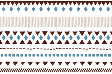 Ethnic vector seamless pattern. Tribal geometric background, boho motif, maya, aztec ornament illustration. mexican textile print texture