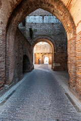Fototapeta The walled town of Cittadella in Italy