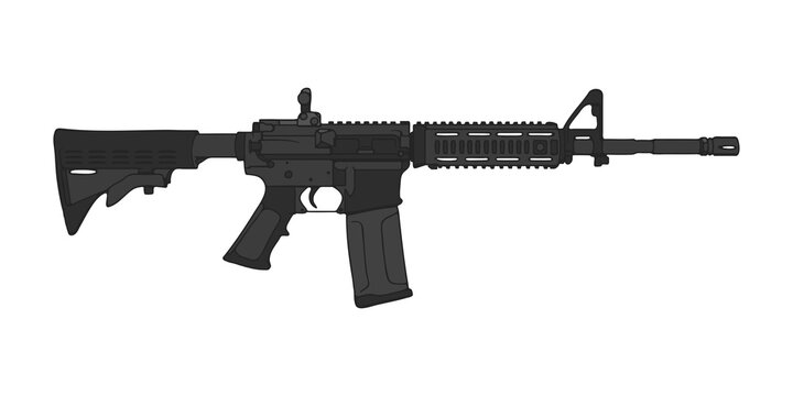 American M4 assault rifle