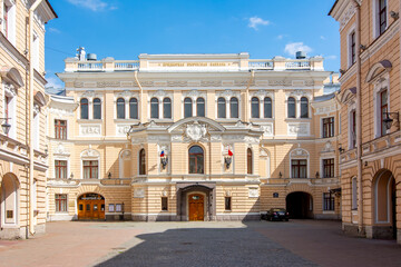 Saint Petersburg State Academic Capella on a sunny day, Russia