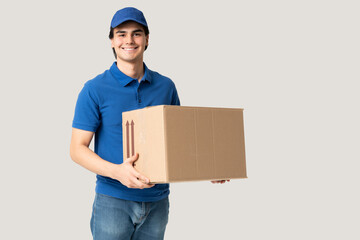 Latin Delivery Man Carrying Package