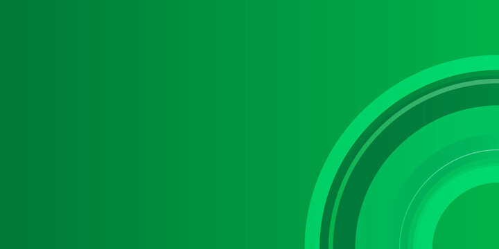 Simple green circle background. Flat circle liens green gradation texture. Circle wavy background