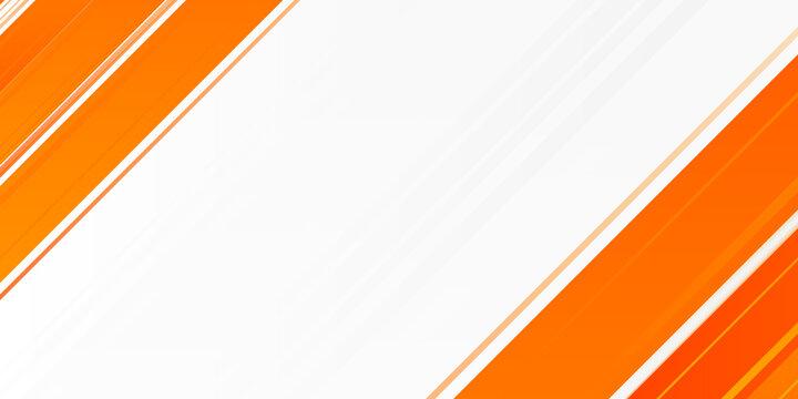 Bright orange abstract modern swoosh elegant soft white background