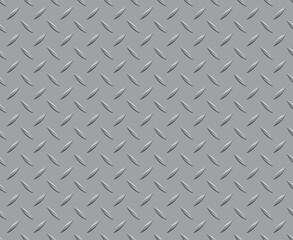 A floor pattern diamond plate metal steel background seamless texture