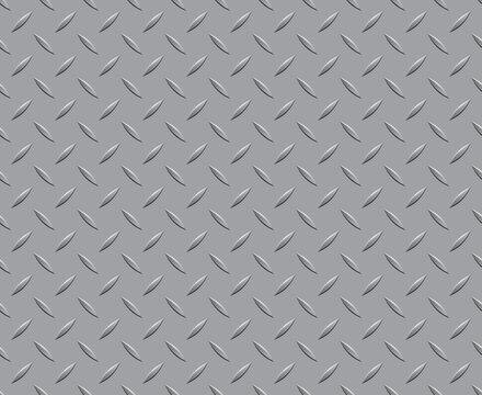 A floor pattern diamond plate metal steel background seamless texture