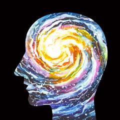 Disegno grafico forza di chakra. Yoga. Meditazione. Rilassamento.