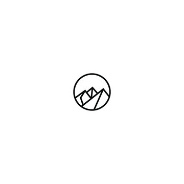 modern and simple mountain logo