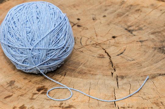 light blue cotton ball