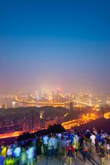 Chongqing, China downtown city skyline over the Yangtze River
