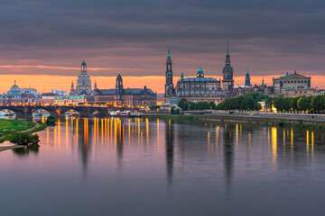 Dresden, Germany above the Elbe River